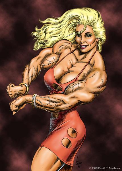 漫画肌肉女
