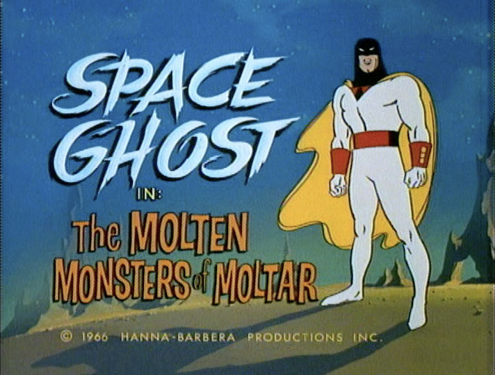 Title card: Space Ghost - The Molten Monsters of Moltar