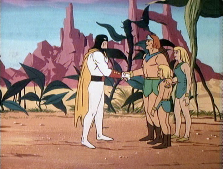 Space Ghost bids the Herculoids farewell