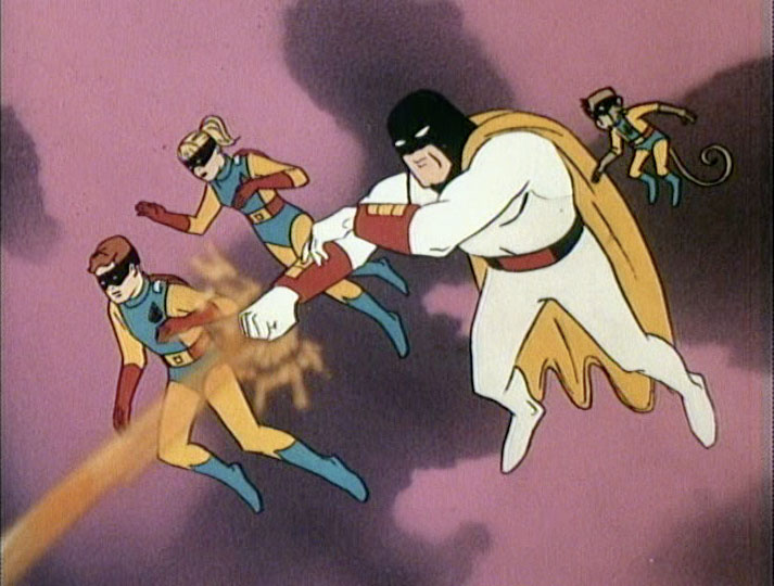 Space Ghost fires on Moltar's lair